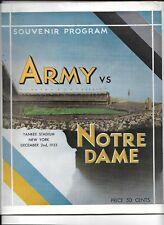 1933 Army-Notre Dame Program Irish Upset Black Knights!!