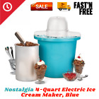 NEW Electric Homemade Ice Cream  Maker 4-Qt Frozen Yogurt Plastic Bucket Freezer photo