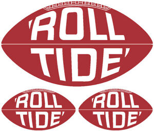 Alabama Crimson Tide Vintage Vinyl Decals - Stickers