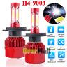 Pair 4-sides H4 HB2 9003 LED Headlight Kit 3000W 6000K 500000LM Hi/lo Beam Bulbs