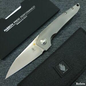 Kizer Cutlery VK1 CPM S35VN Satin Blade 3D Machined Titanium Handles