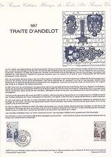 Document Philatélique Timbre 1er Jour : 28/11/ 1987 - Traité d'Andelot