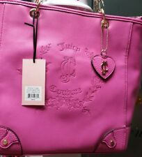 new juicy couture purse floral crest flamingo pink