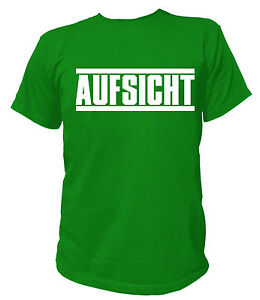 T-Shirt - + AUFSICHT + Security Sicherheit Veranstaltung Berufskleidung JGA