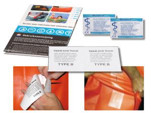 Tear-Aid Typ B Vinyl Reparaturset Reparaturpatch PVC Kite Segel Kanu Wasserbett