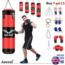 15 Piece Boxing Set 2/3/4ft Heavy Punch Bag Gloves,Chains,Kick Training MMA Bags