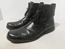 Timberland Earthkeepers Mens Black Leather Lace Zip Ankle Boots Sz 10 19560