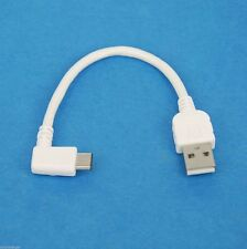 "4"" 10cm USB 2.0 A to Right Angle Type C Charger Cable WHITE for LG V30 G6 V20 G5"