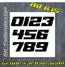 Individuelle Startnummer Motorrad Auto Boot Modellbau ✔ Farbauswahl ✔ 3 Ziffern