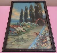 1920's R. ATKINSON FOX Print BLOOMING TIME Framed Print 10x14 NICE!