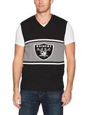 Too Cool! New Licensed Oakland LA Raiders Mens Sweater Vest Size L MSP _S48