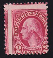 US 634a 2c Washington Mint SCARCE 2 Way Misperf EFO OG H SCV $350