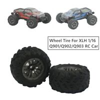 Car Rubber Wheel Tire Spare Part For XLH 1/16 Q901/Q902/Q903 RC Off Road Car_AU