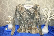Realtree Women's Green Camo Sporting Shirt Size Large athletic top tee free ship