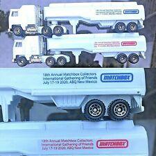 BOTH 2020 Matchbox Gathering of Friends Convoy KENWORTH Petrol Tanker 25 EA MADE
