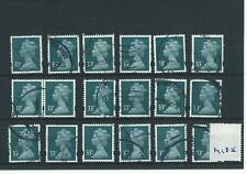GB - WHOLESALE - MACHIN DEFINITIVES - MA185. 33p GREY GREEN - 18  COPIES - USED