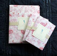 POTTERY BARN KIDS Lara Reversible Paisley Duvet cover Full Queen shams 3pc pink