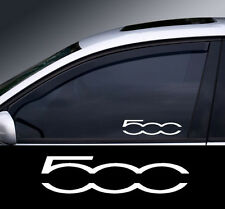 2 x Fiat 500 Logo Window Decal Sticker Graphic *Colour Choice*