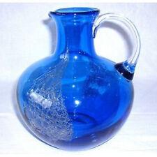 Schott Zwiesel Glaskrug / Glas Vase 2,4 kg - Blau mit Einschmelzungen + Widmung