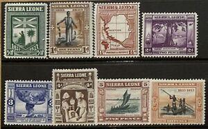 SIERRA LEONE 1933 CENTENARY SET TO 6d MOUNTED MINT SG168/175 CAT £46