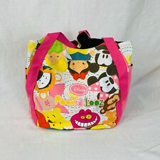 Disney Pook A Looz All Over Print Tote Bag Cheshire Pooh Tink Tigger Mickey Pink
