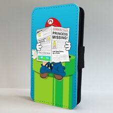 Super Mario divertido Nintendo 90s Teléfono Abatible de suplantación de identidad Estuche Cubierta para iPhone Samsung