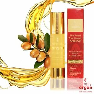100% Pure Certified Organic Moroccan Argan Oil By Simply Argan 15ml - 100ml