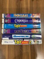 Lot of6 Walt Disney VHS Movies - 3 Masterpiece Collection