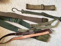 Job Lot Army Straps Slings Belts Webbing Leather