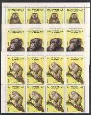 FUJERIA Minkus Catalog # 728-732 Michel 786-790 x 10 COMPLTE SETS MNH MONKEY