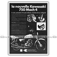 PUB KAWASAKI 750 H2 MACH IV 4 - Original Advert / Publicité Moto de 1972