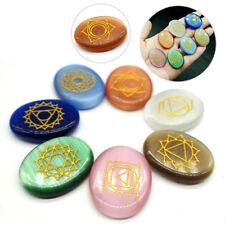 7pcs/set Carved Healing Crystal Reiki Chakra Meditation Crystals Palm Stones