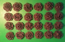 24 Edible Large roses flowers cupcake cake toppers decorations weddings birthday