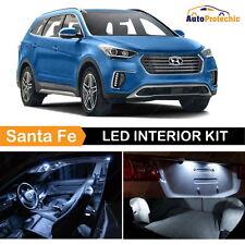 9x LED White Light Interior Package Kit For 2013 - 2017 Hyundai Santa Fe + Tool