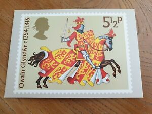 Owning Glyndwr ( Prince of Wales ) - 1974 Royal Mail Stamp Postcard