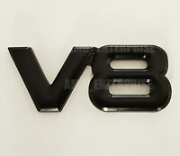 BLACK Chrome 3D Metal V8 Square Badge Emblem for BMW M3 M4 M5 M6 MSport Coupe M
