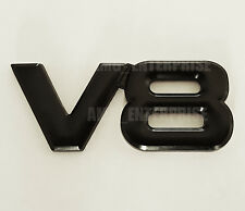 BLACK Chrome 3D Metal V8 Square Badge Emblem for Volvo S90 V40 V70 Cross Country