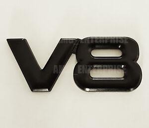 Noir Chrome 3D Métal V8 Carré Badge Emblème pour Mitsubishi Shogun Sport Mirage