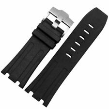 Replacement 28mm Rubber Watch Strap Band With Buckle For AP Royal OAK Offshore