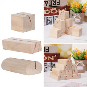 Natural Wood Paper Clamp Photos Clips Place Card Picture Frame Clamps Stand