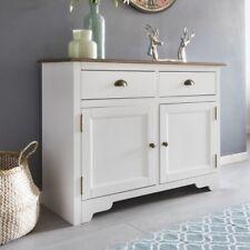 FineBuy Solid Bianco Cajones del armario Country house Armario pequeño madera