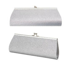 Women Bridal Small Clutch Purse Bag Glitter Sparkly Satin Evening Party Handbag
