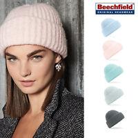 Beechfield Plush beanie - Warm winter fashion hat men/women soft colours B418