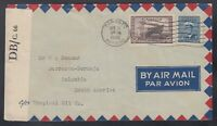 Canada 1945 WWII Censored Airmail Cover Toronto to Barranca COLOMBIA