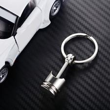 Silver  Car Originality Engine Part Metal Piston Model Alloy Keychain Keyring