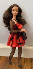 Barbie Doll Lot TNT Vintage Brunette Blue Star Eye Avon Fashions Red Black Dress