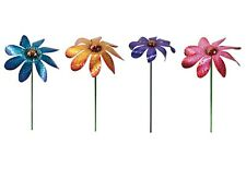 Small Daisy Spinner Balancer Metal Garden Stake Outdoor Decor