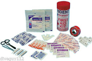 Trident Tube First Aid Kit for Scuba Diving Round Case FA05