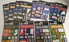 Reminisce Sticker Packs Lot 12 Jet Setters Travel States 3D Dimensional