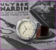 Vintage Massive Ulysse Nardin Le Locle Manual Wind 46mm Steel Skeleton Men Watch